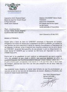 Lettre de Saint-Chamond Espoir  001